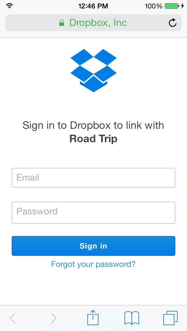 Sync Between Multiple Accounts - Road Trip for iPhone and